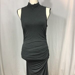 WHBM Gray Turtleneck Bodycon Dress Size 6